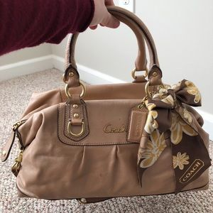 Coach purse with matching scarf